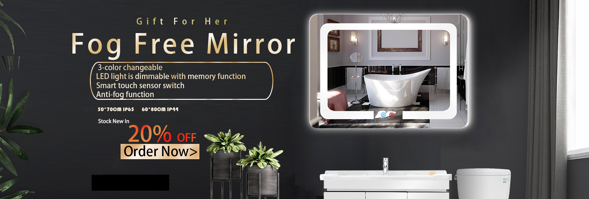 Fog Free Mirror 20% OFF