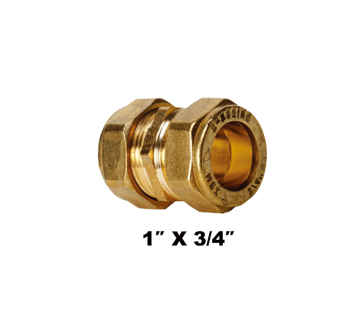 "Straight Compression Coupler C X C 1″ X 3/4"" (31032)"