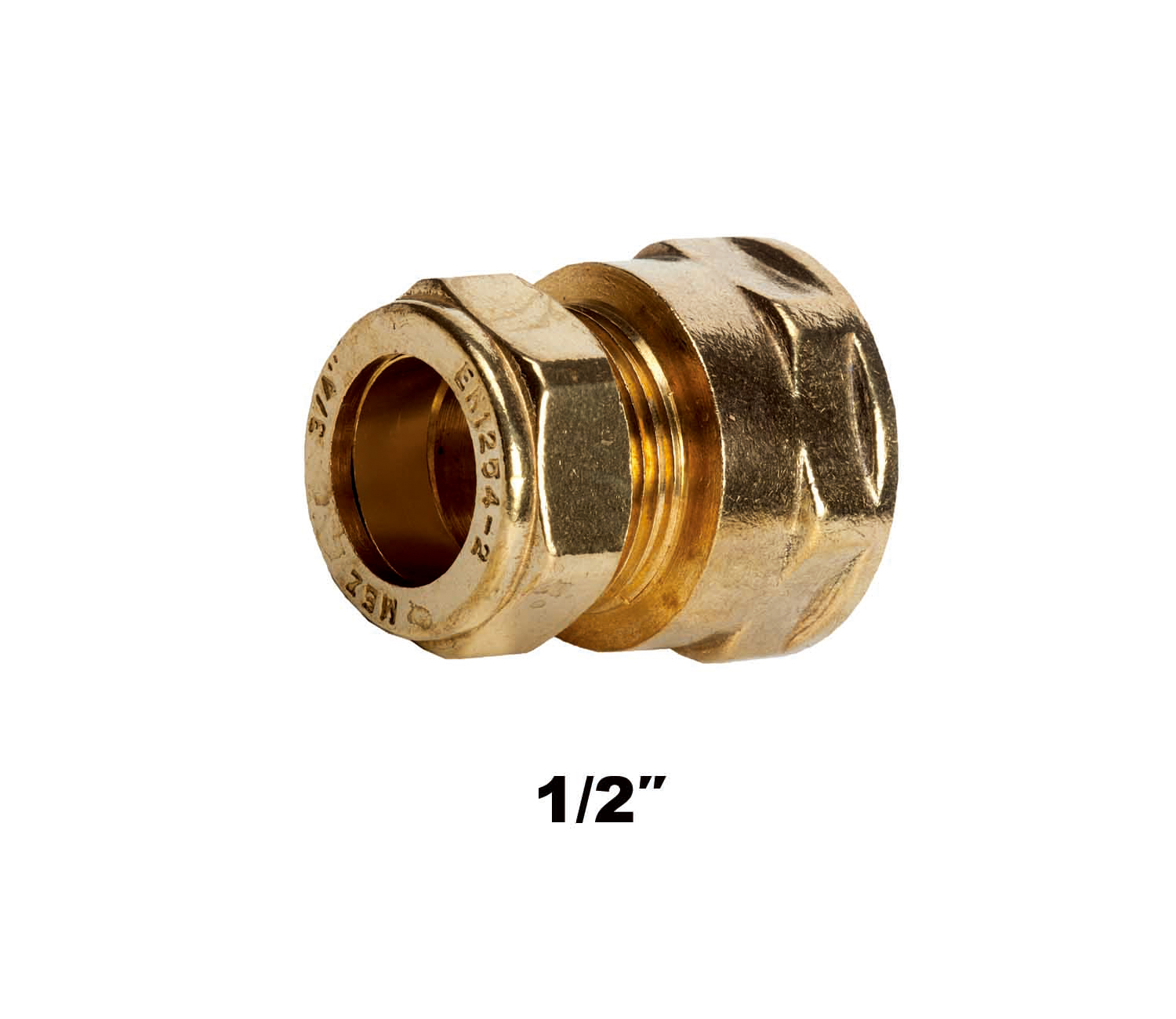 Straight Compression Coupler FI X C 1/2″ (3121)