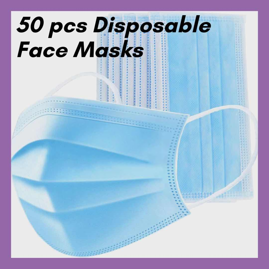 Disposable Face Mask 50 pcs, Face coverings Ireland