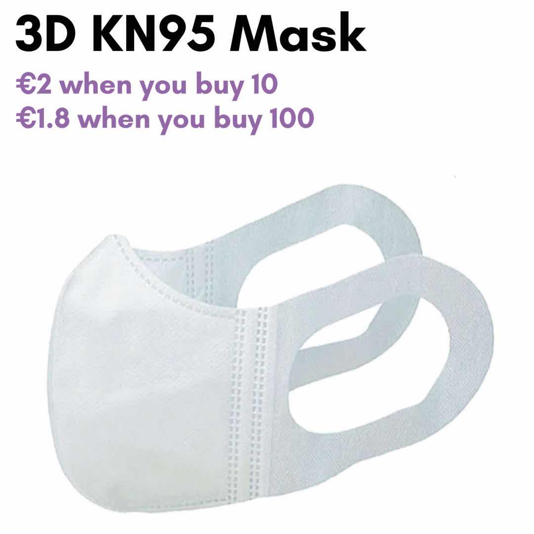 3D Breathable Mask Filtration Efficiency 95%