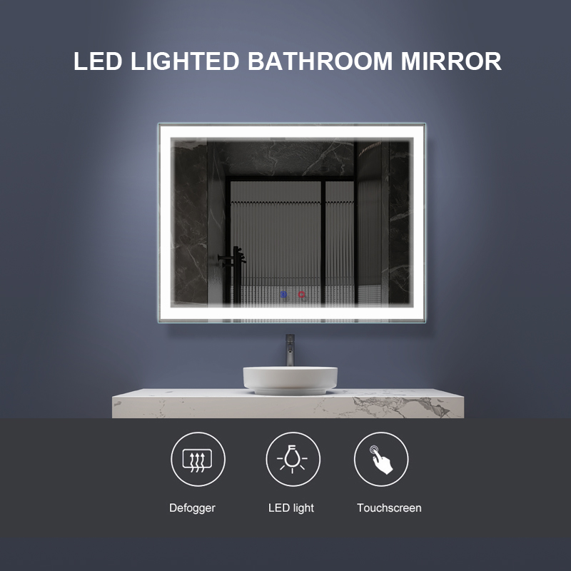 LED & Fog Free Bathroom Mirror DP313A  800x600mm
