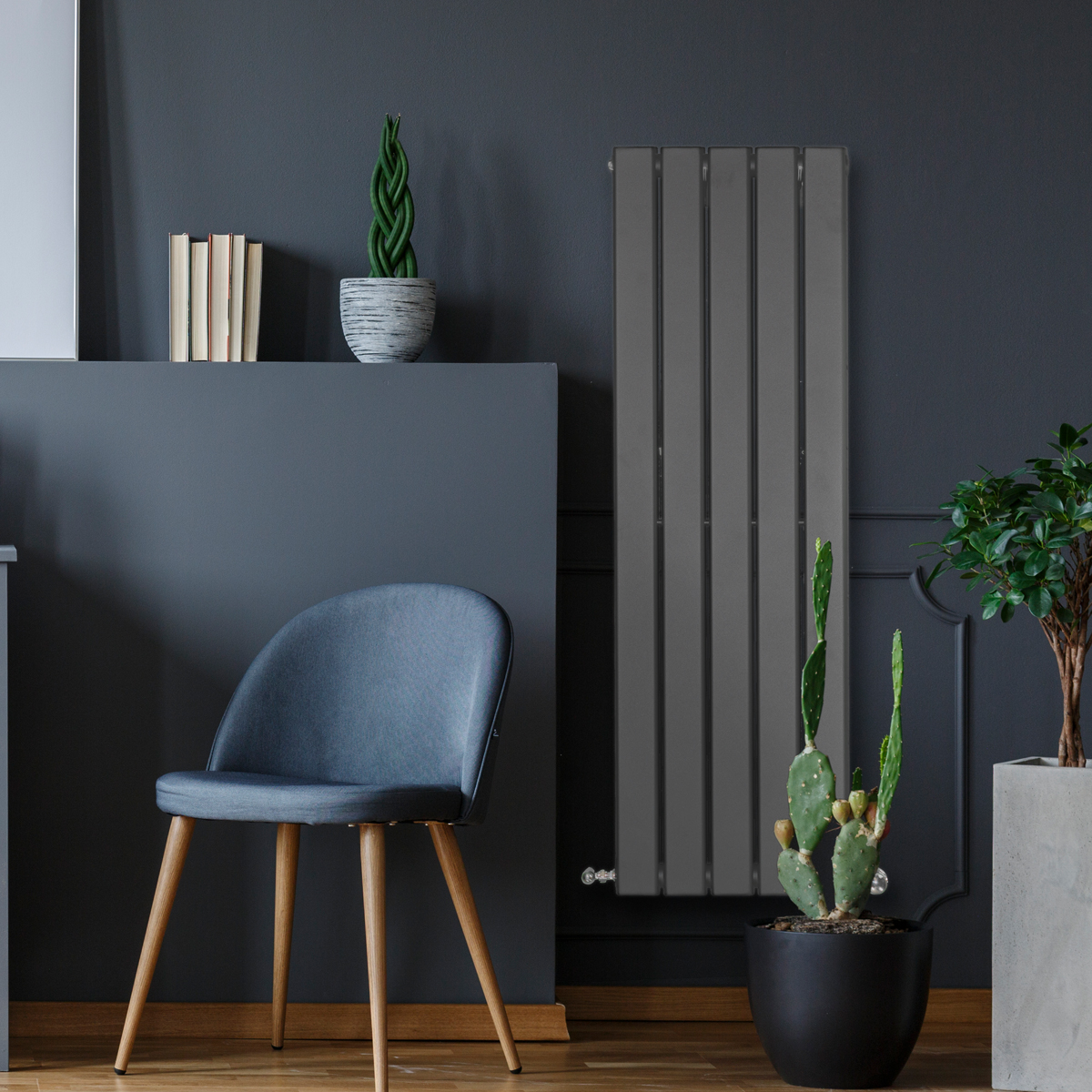 Piave Designer Radiator Grey Small RAD-AF-US01004G
